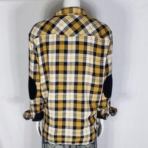 David Bitton Buffalo Mens Plaid Flannel Shirt 2XL